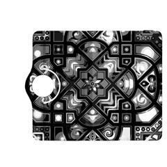 Geometric Line Art Background In Black And White Kindle Fire Hdx 8 9  Flip 360 Case by Simbadda