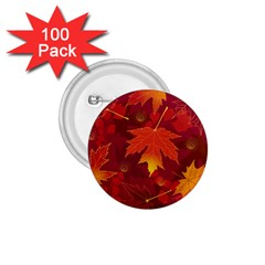 Autumn Leaves Fall Maple 1 75  Buttons (100 Pack)  by Simbadda