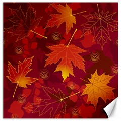 Autumn Leaves Fall Maple Canvas 20  X 20   by Simbadda