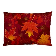 Autumn Leaves Fall Maple Pillow Case by Simbadda