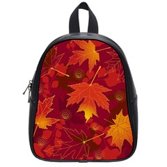 Autumn Leaves Fall Maple School Bags (small)  by Simbadda