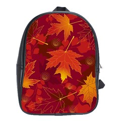 Autumn Leaves Fall Maple School Bags (xl)  by Simbadda