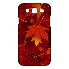 Autumn Leaves Fall Maple Samsung Galaxy Mega 5 8 I9152 Hardshell Case  by Simbadda