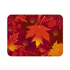 Autumn Leaves Fall Maple Double Sided Flano Blanket (mini)  by Simbadda