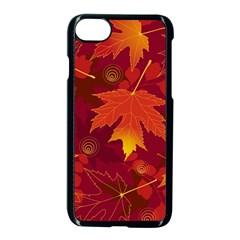 Autumn Leaves Fall Maple Apple Iphone 7 Seamless Case (black) by Simbadda