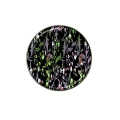 Floral Pattern Background Hat Clip Ball Marker (10 Pack) by Simbadda
