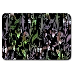 Floral Pattern Background Large Doormat  by Simbadda