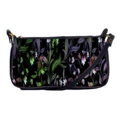 Floral Pattern Background Shoulder Clutch Bags by Simbadda