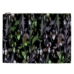 Floral Pattern Background Cosmetic Bag (xxl)  by Simbadda