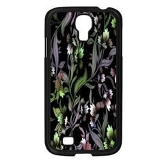 Floral Pattern Background Samsung Galaxy S4 I9500/ I9505 Case (black) by Simbadda