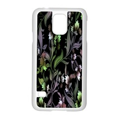 Floral Pattern Background Samsung Galaxy S5 Case (white) by Simbadda