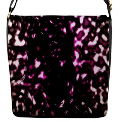 Background Structure Magenta Brown Flap Messenger Bag (S) by Simbadda