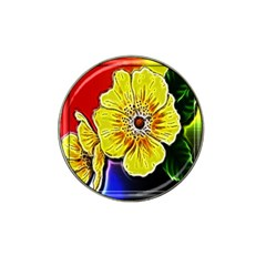 Beautiful Fractal Flower In 3d Glass Frame Hat Clip Ball Marker (4 Pack) by Simbadda