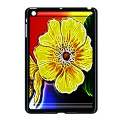 Beautiful Fractal Flower In 3d Glass Frame Apple Ipad Mini Case (black) by Simbadda