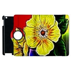 Beautiful Fractal Flower In 3d Glass Frame Apple Ipad 3/4 Flip 360 Case by Simbadda