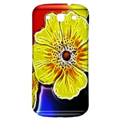 Beautiful Fractal Flower In 3d Glass Frame Samsung Galaxy S3 S Iii Classic Hardshell Back Case by Simbadda
