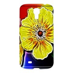 Beautiful Fractal Flower In 3d Glass Frame Samsung Galaxy S4 I9500/i9505 Hardshell Case by Simbadda
