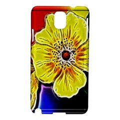 Beautiful Fractal Flower In 3d Glass Frame Samsung Galaxy Note 3 N9005 Hardshell Case by Simbadda