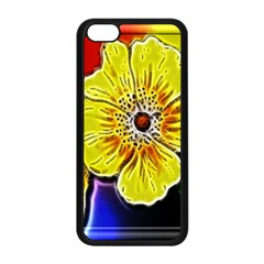 Beautiful Fractal Flower In 3d Glass Frame Apple Iphone 5c Seamless Case (black) by Simbadda