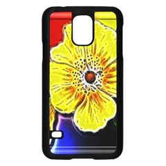 Beautiful Fractal Flower In 3d Glass Frame Samsung Galaxy S5 Case (black) by Simbadda