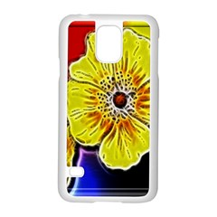 Beautiful Fractal Flower In 3d Glass Frame Samsung Galaxy S5 Case (white) by Simbadda