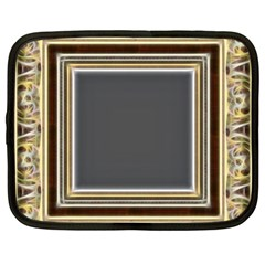 Fractal Classic Baroque Frame Netbook Case (xxl)  by Simbadda