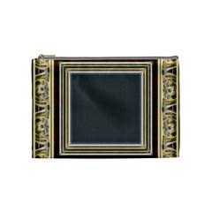 Fractal Classic Baroque Frame Cosmetic Bag (medium)  by Simbadda