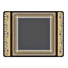 Fractal Classic Baroque Frame Fleece Blanket (small) by Simbadda