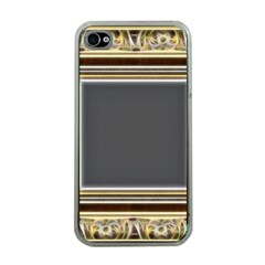 Fractal Classic Baroque Frame Apple Iphone 4 Case (clear) by Simbadda