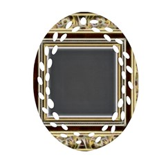 Fractal Classic Baroque Frame Oval Filigree Ornament (two Sides) by Simbadda