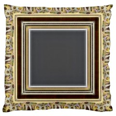 Fractal Classic Baroque Frame Large Cushion Case (two Sides) by Simbadda