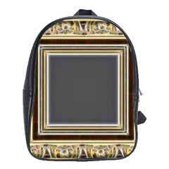 Fractal Classic Baroque Frame School Bags (xl)  by Simbadda