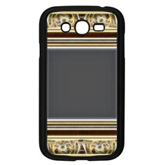 Fractal Classic Baroque Frame Samsung Galaxy Grand Duos I9082 Case (black) by Simbadda