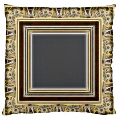 Fractal Classic Baroque Frame Standard Flano Cushion Case (two Sides) by Simbadda