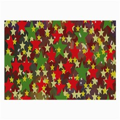 Star Abstract Multicoloured Stars Background Pattern Large Glasses Cloth (2 Side) by Simbadda