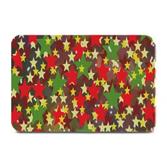 Star Abstract Multicoloured Stars Background Pattern Plate Mats by Simbadda