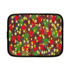 Star Abstract Multicoloured Stars Background Pattern Netbook Case (small)  by Simbadda