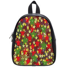 Star Abstract Multicoloured Stars Background Pattern School Bags (small)  by Simbadda