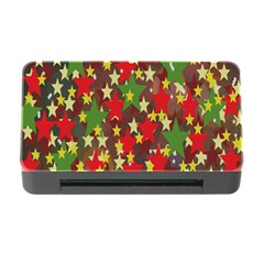 Star Abstract Multicoloured Stars Background Pattern Memory Card Reader With Cf by Simbadda