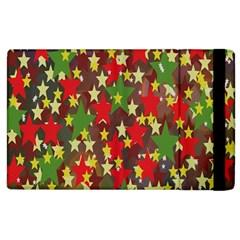 Star Abstract Multicoloured Stars Background Pattern Apple Ipad 3/4 Flip Case by Simbadda