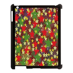 Star Abstract Multicoloured Stars Background Pattern Apple Ipad 3/4 Case (black) by Simbadda