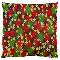 Star Abstract Multicoloured Stars Background Pattern Standard Flano Cushion Case (two Sides) by Simbadda