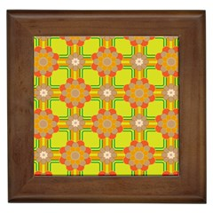 Floral Pattern Wallpaper Background Beautiful Colorful Framed Tiles by Simbadda