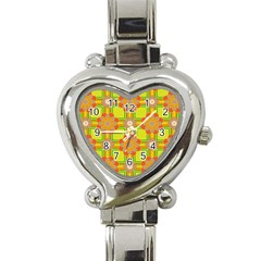 Floral Pattern Wallpaper Background Beautiful Colorful Heart Italian Charm Watch by Simbadda