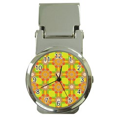 Floral Pattern Wallpaper Background Beautiful Colorful Money Clip Watches by Simbadda