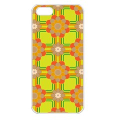 Floral Pattern Wallpaper Background Beautiful Colorful Apple iPhone 5 Seamless Case (White)