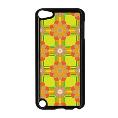 Floral Pattern Wallpaper Background Beautiful Colorful Apple Ipod Touch 5 Case (black) by Simbadda