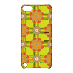 Floral Pattern Wallpaper Background Beautiful Colorful Apple Ipod Touch 5 Hardshell Case With Stand by Simbadda