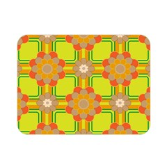 Floral Pattern Wallpaper Background Beautiful Colorful Double Sided Flano Blanket (mini)  by Simbadda