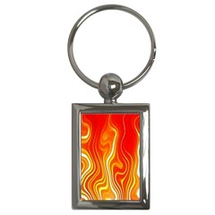 Fire Flames Abstract Background Key Chains (rectangle)  by Simbadda